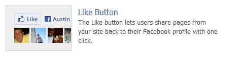 Facebook wie Button