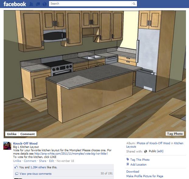 Facebook Küche Abstimmung