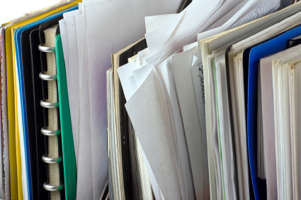 documents and file folders