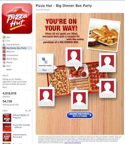 pizzahut incentivized share
