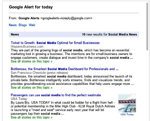 google alert for today