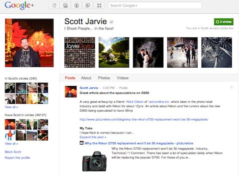 jarvie google+ page