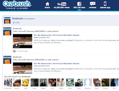 orabrush facebook page