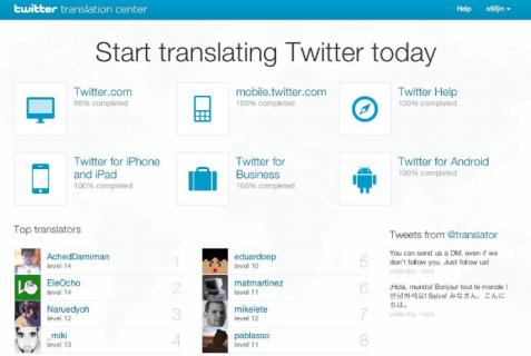 twitter translation center