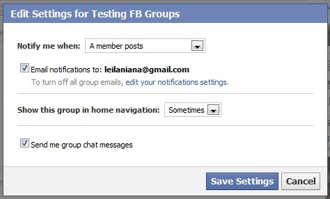 Facebook Group Display in Home Navigation