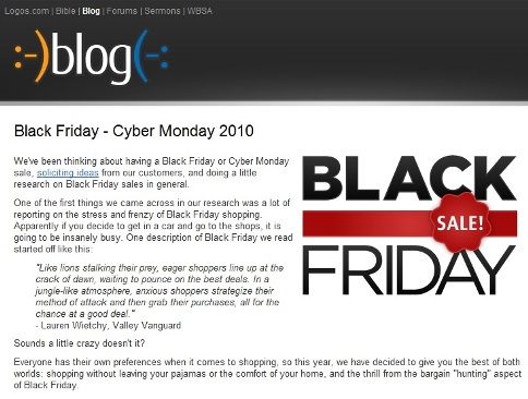 black friday blog