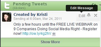 HootSuite Pending Tweets