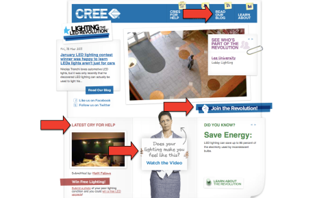 cree home page