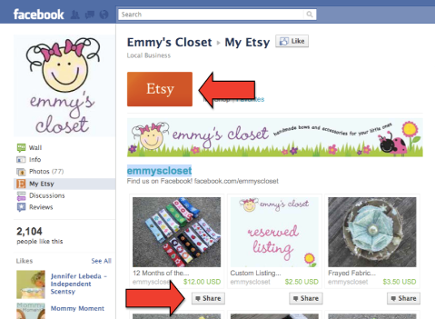 emmy etsy share on facebook