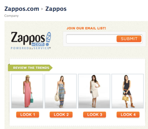 zappos fan only content
