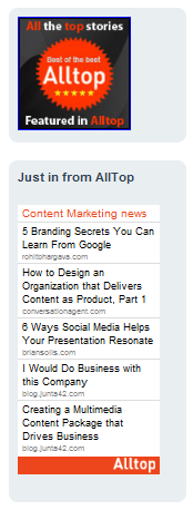 content marketing today alltop