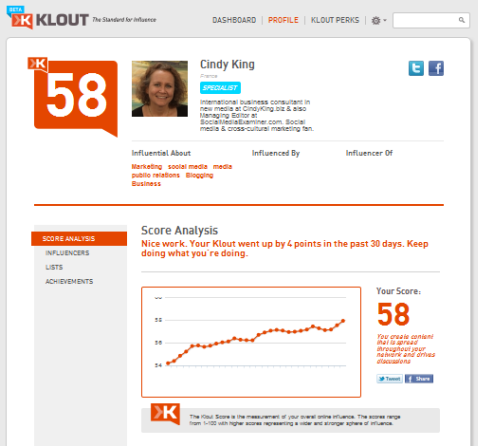 new klout