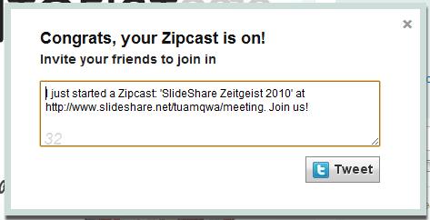 zipcast social broadcast