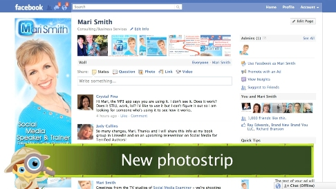 facebook photo strip