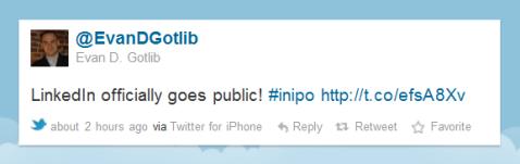linkedin goes public