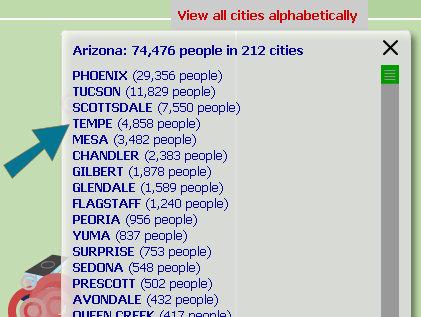 twellowhood city list