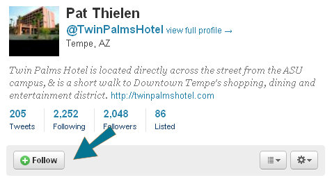 twin palms hotel flyout