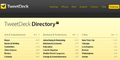 tweetdeck directory