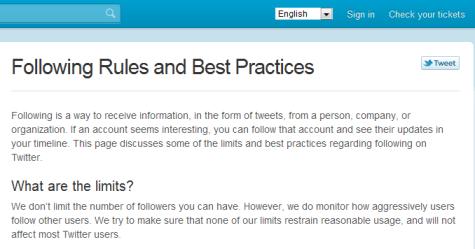 Twitter nach Regeln