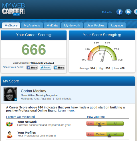 mywebcareer dashboard