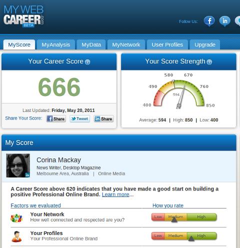 mywebcareer dashboard
