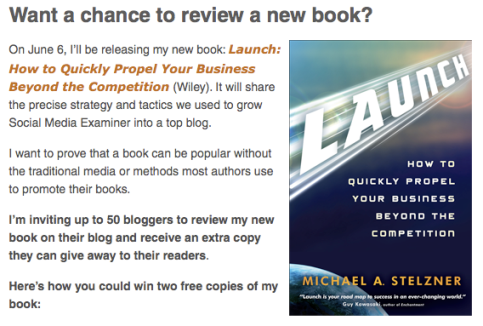 9 ways to use social media to launch a book social media examiner i created a contest where bloggers applied to be selected to review my book stopboris Images