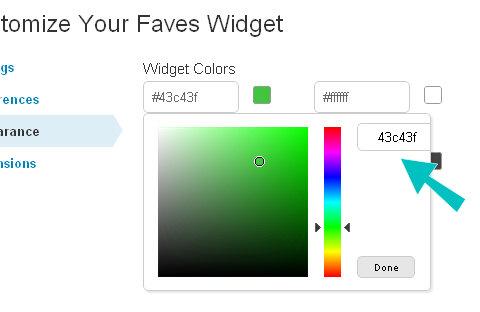 widget appeance colorpicker
