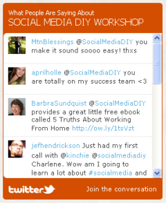 finished twitter widget