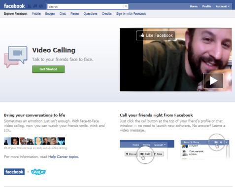 skype on facebook