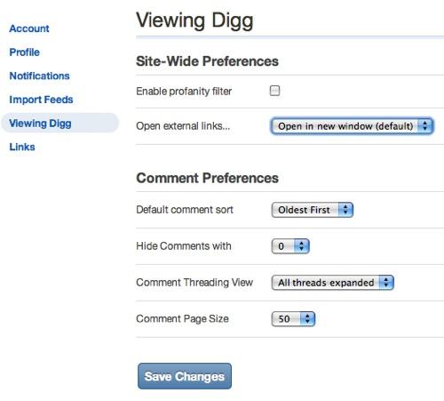 Digg View