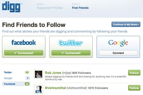 Finde Freunde in anderen Netzwerken