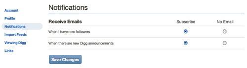 Neue Digg-Benachrichtigungen