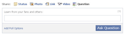 facebook question blank