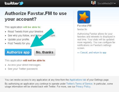 favstar authorize