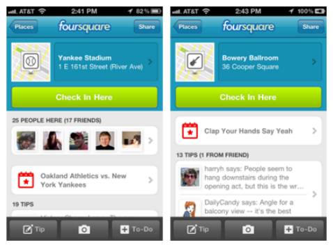 foursquare events