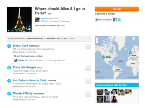 foursquare lists
