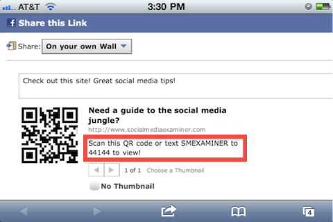 How to Combine QR Codes With the Power of Facebook : Social