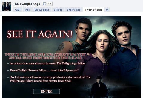 twilight tweet sweeps