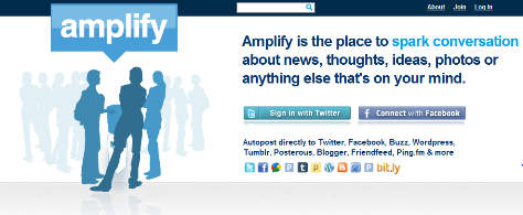 amplify front page