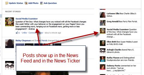 news feed and news ticker
