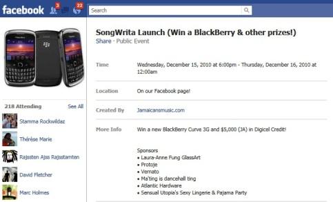 Song Writa launch
