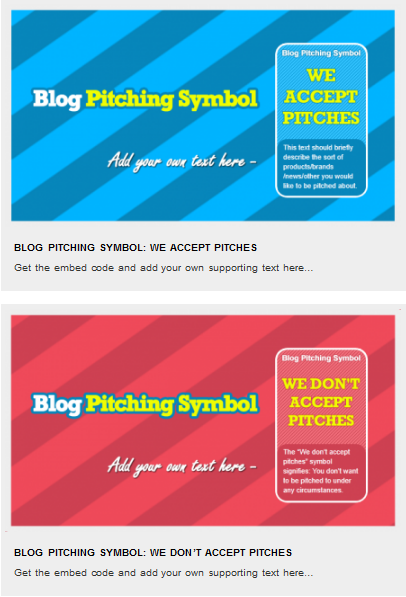 blog pitching symbol