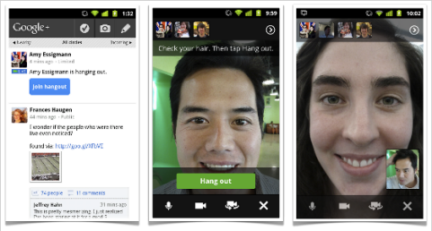 google+ hangouts on phones