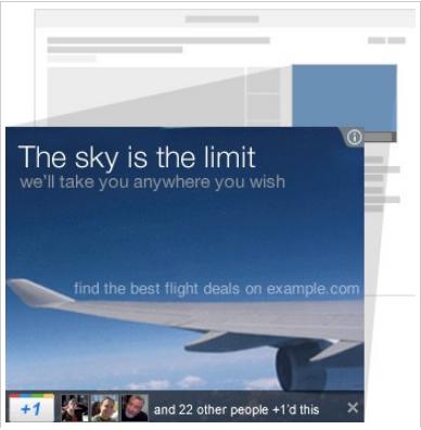 google+1 button on ads