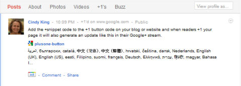 google +1 snippet update