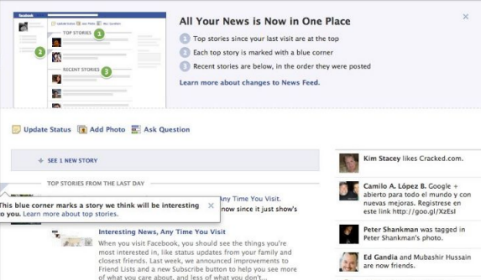 facebook top stories