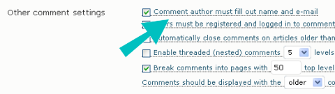 WordPress Discussion Setting