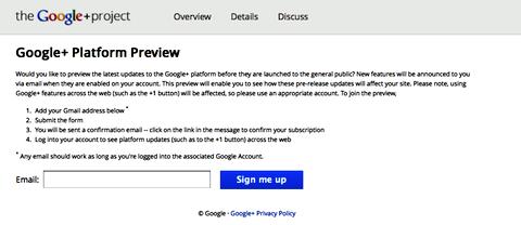 google+ platform preview