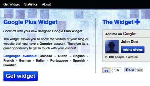google+ widget
