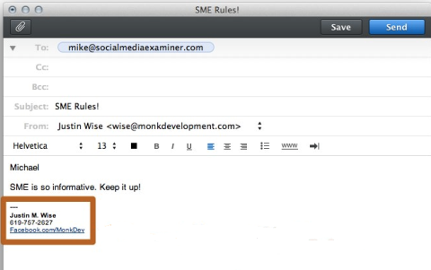 how to create a publicity email with pdf